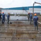 бетонирование предварительно напряженной плиты