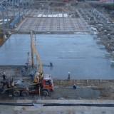 бетонирование предварительно напряженной фундаментной плиты по грунту на СП Санта Бремор ООО  в г. Бресте